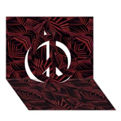 Sharp Tribal Pattern Peace Sign 3d Greeting Card (7x5)  by dflcprints