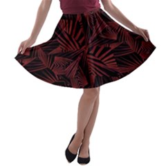 Sharp Tribal Pattern A Line Skater Skirt by dflcprintsclothing