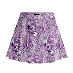 Purple Paisley Doodle Mini Flare Skirt by KirstenStar
