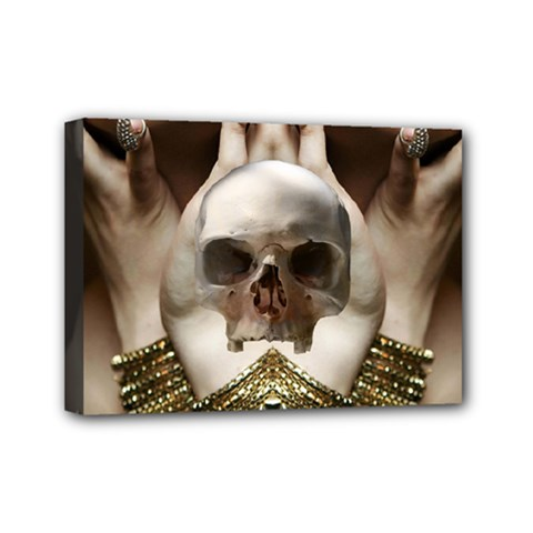 Skull Magic Mini Canvas 7  X 5  by icarusismartdesigns