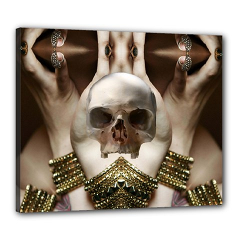 Skull Magic Canvas 24  X 20  by icarusismartdesigns