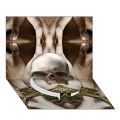 Skull Magic Circle Bottom 3d Greeting Card (7x5)  by icarusismartdesigns