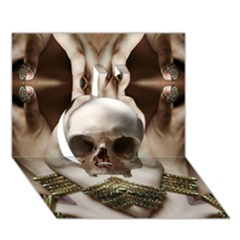 Skull Magic Apple 3d Greeting Card (7x5)  by icarusismartdesigns