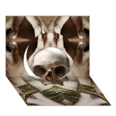 Skull Magic Circle 3d Greeting Card (7x5)  by icarusismartdesigns