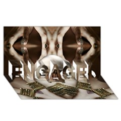 Skull Magic Engaged 3d Greeting Card (8x4)  by icarusismartdesigns
