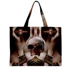 Skull Magic Zipper Mini Tote Bag by icarusismartdesigns