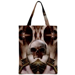 Skull Magic Zipper Classic Tote Bag by icarusismartdesigns