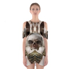 Skull Magic Cutout Shoulder Dress by icarusismartdesigns