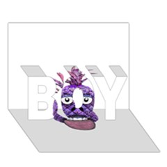 Funny Fruit Face Head Character Boy 3d Greeting Card (7x5) by dflcprints