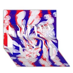 Groovy Red White Blue Swirl Thank You 3d Greeting Card (7x5)  by BrightVibesDesign