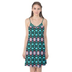 Fancy Teal Red Pattern Camis Nightgown