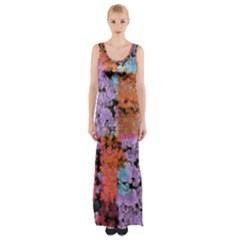 Paint Texture                                     Maxi Thigh Split Dress by LalyLauraFLM