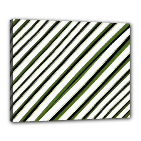 Diagonal Stripes Canvas 20  X 16  by dflcprints
