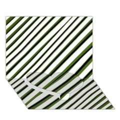Diagonal Stripes Heart Bottom 3d Greeting Card (7x5)  by dflcprints