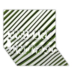 Diagonal Stripes YOU ARE INVITED 3D Greeting Card (7x5)  by dflcprints