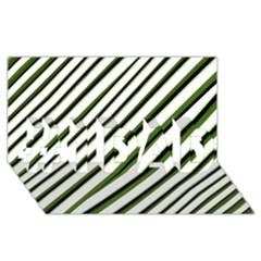 Diagonal Stripes #1 Dad 3d Greeting Card (8x4)