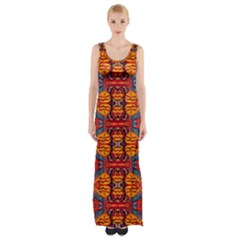 Planet Spice Maxi Thigh Split Dress by MRTACPANS