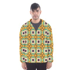 Flowers and squares pattern                                            Mesh Lined Wind Breaker (Men) by LalyLauraFLM