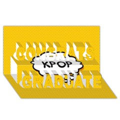 Comic Book Kpop Orange Congrats Graduate 3D Greeting Card (8x4)  by ComicBookPOP