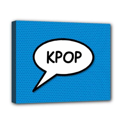 Comic Book Shout Kpop (blue) Canvas 10  X 8  by ComicBookPOP