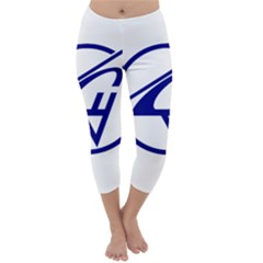 Sukhoi Aircraft Logo Capri Winter Leggings  by Casanova