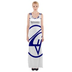 Sukhoi Aircraft Logo Maxi Thigh Split Dress by Casanova
