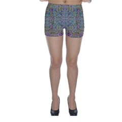 Colors For Peace And Lace In Rainbows In Decorative Style Skinny Shorts by pepitasart
