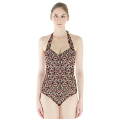 Boho Chic Women s Halter One Piece Swimsuit by dflcprintsclothing