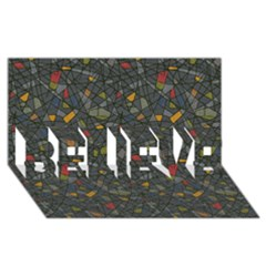 Abstract Reg Believe 3d Greeting Card (8x4)  by FunkyPatterns