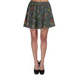 Abstract Reg Skater Skirt by FunkyPatterns