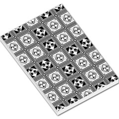 Black And White Large Memo Pads