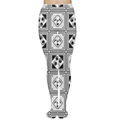 Black And White Women s Tights by FunkyPatterns