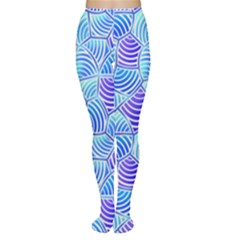 Blue And Purple Glowing Women s Tights by FunkyPatterns