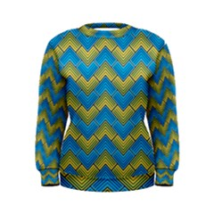 Blue And Yellow Women s Sweatshirt by FunkyPatterns