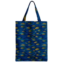 Blue Waves Classic Tote Bag by FunkyPatterns