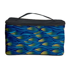 Blue Waves Cosmetic Storage Cases by FunkyPatterns