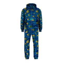 Blue Waves Hooded Jumpsuit (kids) by FunkyPatterns