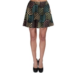 Glowing Abstract Skater Skirt by FunkyPatterns