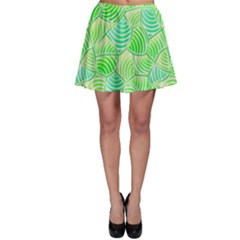 Green Glowing Skater Skirt by FunkyPatterns