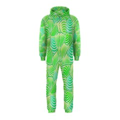 Green Glowing Hooded Jumpsuit (kids) by FunkyPatterns