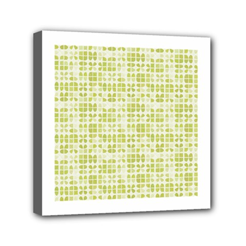 Pastel Green Mini Canvas 6  X 6  by FunkyPatterns