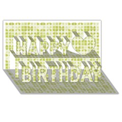 Pastel Green Happy Birthday 3d Greeting Card (8x4)