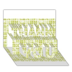 Pastel Green Thank You 3d Greeting Card (7x5)  by FunkyPatterns