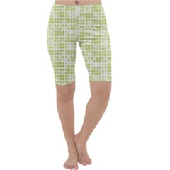 Pastel Green Cropped Leggings  by FunkyPatterns