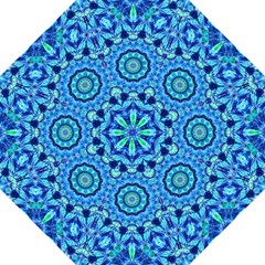 Blue Sea Jewel Mandala Hook Handle Umbrella (medium) by Zandiepants