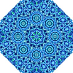 Blue Sea Jewel Mandala Hook Handle Umbrella (small) by Zandiepants