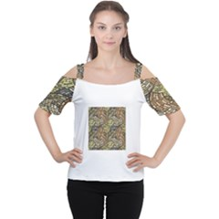Whimsical Women s Cutout Shoulder Tee by FunkyPatterns