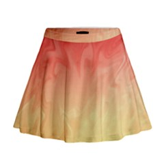 Ombre Orange Yellow Mini Flare Skirt