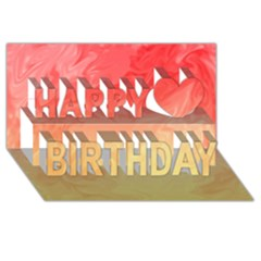 Ombre Orange Yellow Happy Birthday 3d Greeting Card (8x4)  by BrightVibesDesign