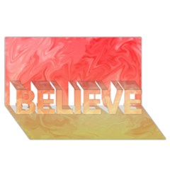 Ombre Orange Yellow Believe 3d Greeting Card (8x4)